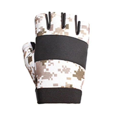 Hot Santo Outdoor Tactical Lightweight Camouflage Semi Finger Gloves One Pair Best price