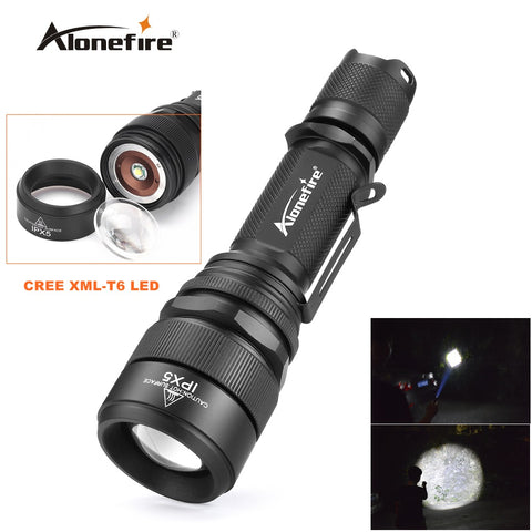 Alonefire G910 waterproof zoom torch CREE XML-T6 LED Adjustable Zoom Focus Flashlight Torch Lamp Light for 18650 Battery