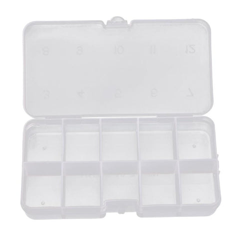 Fishing Box 10Compartments Transparent Visible Plastic Fishing Lure Box Durable Fishing Tackle Box#W21