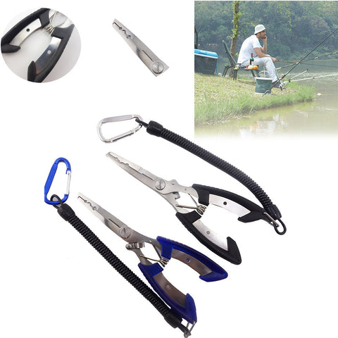 Aluminum Alloy Lure Fishing Pliers Hook Remover Fish Tool Holder Saltwater Fishing Pliers