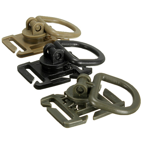 18mm-25mm strap Tactical 360 Rotation D Ring Buckle