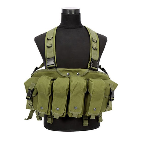 Tactical Recon Chest Rig Vest Military Airsoft Paintball Hunting with w/ Mag Pouch