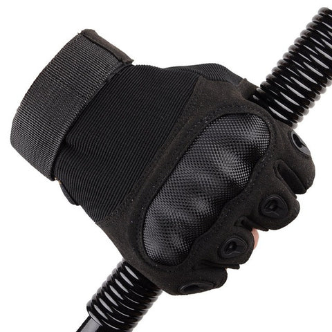 Tactical Fingerless Gloves Military Armed Combat Paintball Airsoft Shooting Anti-Skid Carbon Knuckle Half Finger Gloves