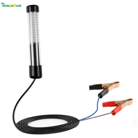 Waterproof IP68 12V 180 LED Fishing Light Underwater Submersible Lamp Fish Bait Light 10.8W 900 Lumen