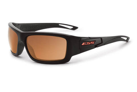 ESS CREDENCE Black Frame W/ Mirrored Copper Lenses