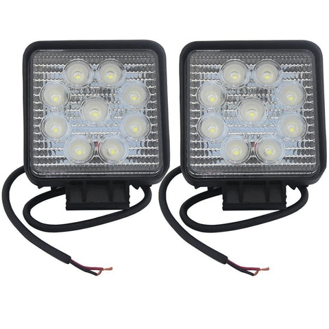 4 Inch Square 27W LED Light Bar Set
