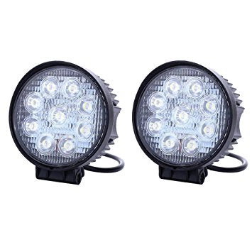 4 Inch Circle 27W LED Light Bar Set