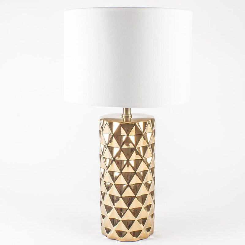 8 Oak Lane - Gold Geo Lamp