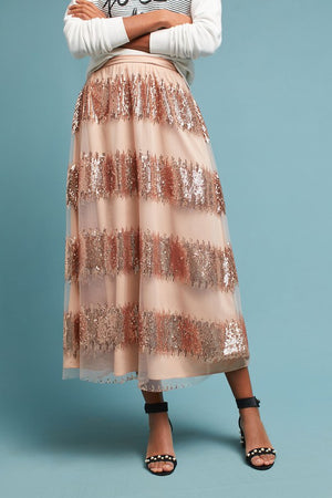 Celebrate Good Times Pink Sheer Skirt