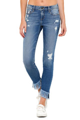 Frayed Distressed Jeans