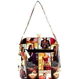 Michelle Obama Shoulder Bag w/ Rhinestone