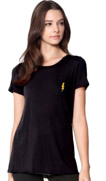 Lightning Black Crewneck Tee