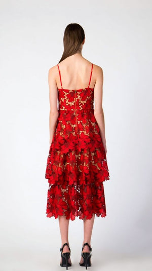 Scarlet Red Lace Dress