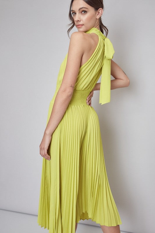 Kiwi Pleated Dress