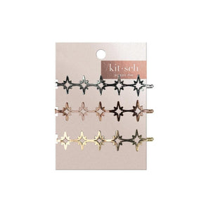 Starburst Metal Bobby Pins