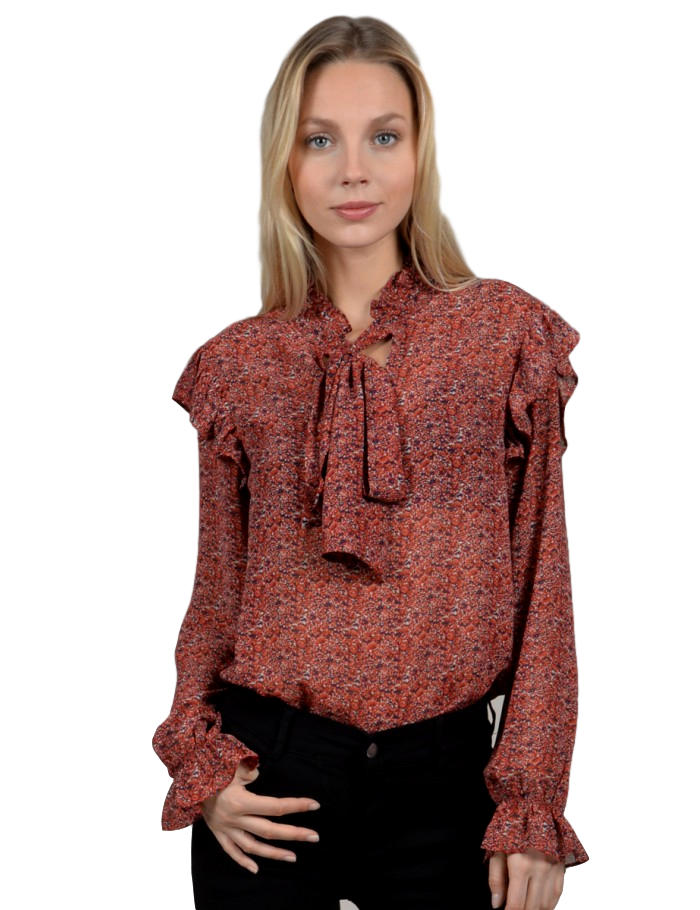 Flowered Woven Blouse