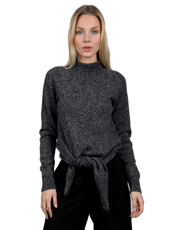 Grey Ladies Knitted Sweater Premium