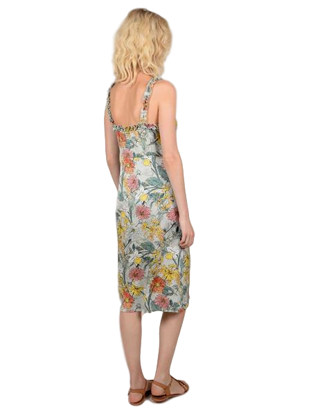 Floral Print Shift Midi Dress