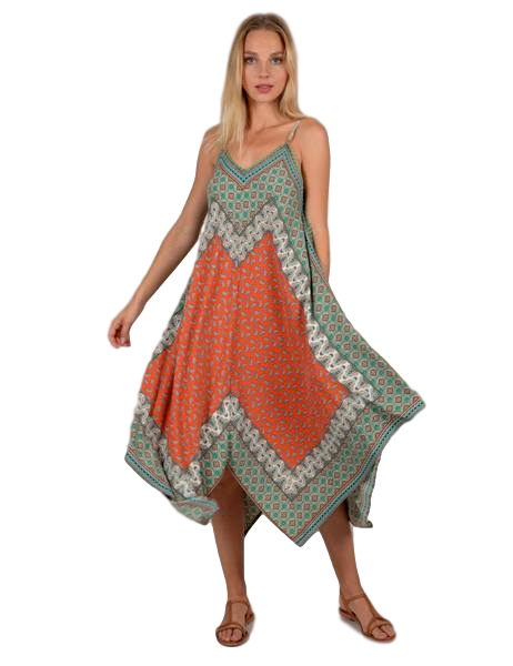 Sage Green Woven Dress