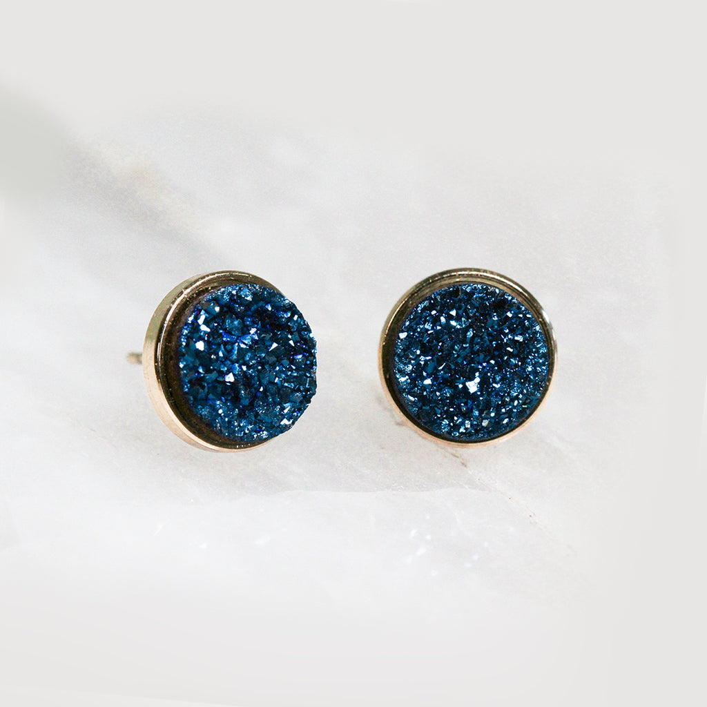 Peacock Druzy Clusters Earrings