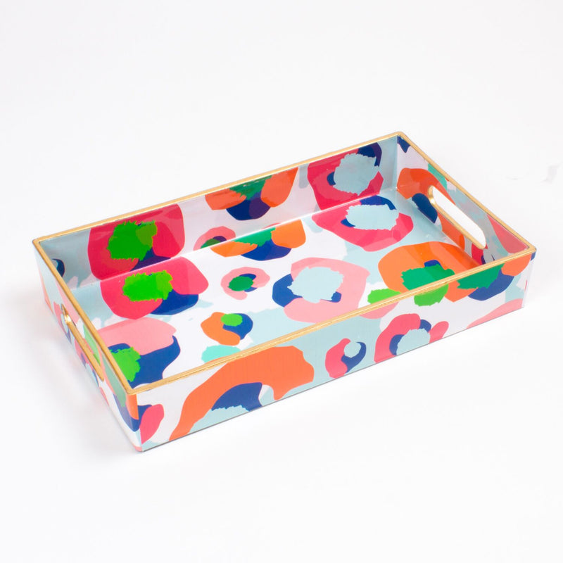 Utensil Tray - Multi Leopard