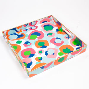 Square Tray - Multi Leopard