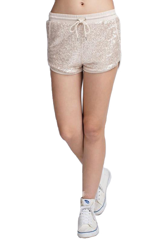 Sequin Elastic Shorts