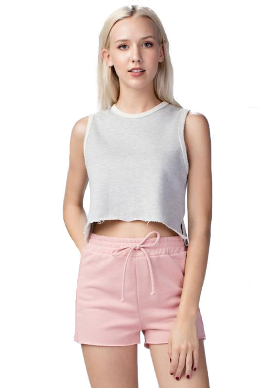 French Terry Crop Tee