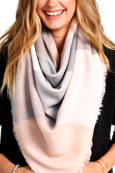 Blush/Grey Scarf