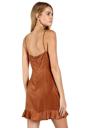 Satin Cami Dress with Hook and Eye Detail