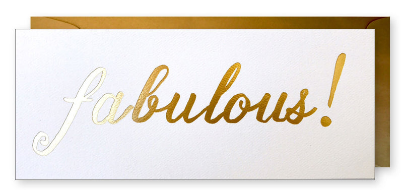 Gold Foil Fabulous!