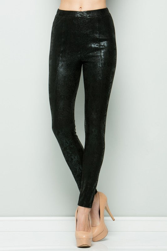 Snake Skin Stretch Pants