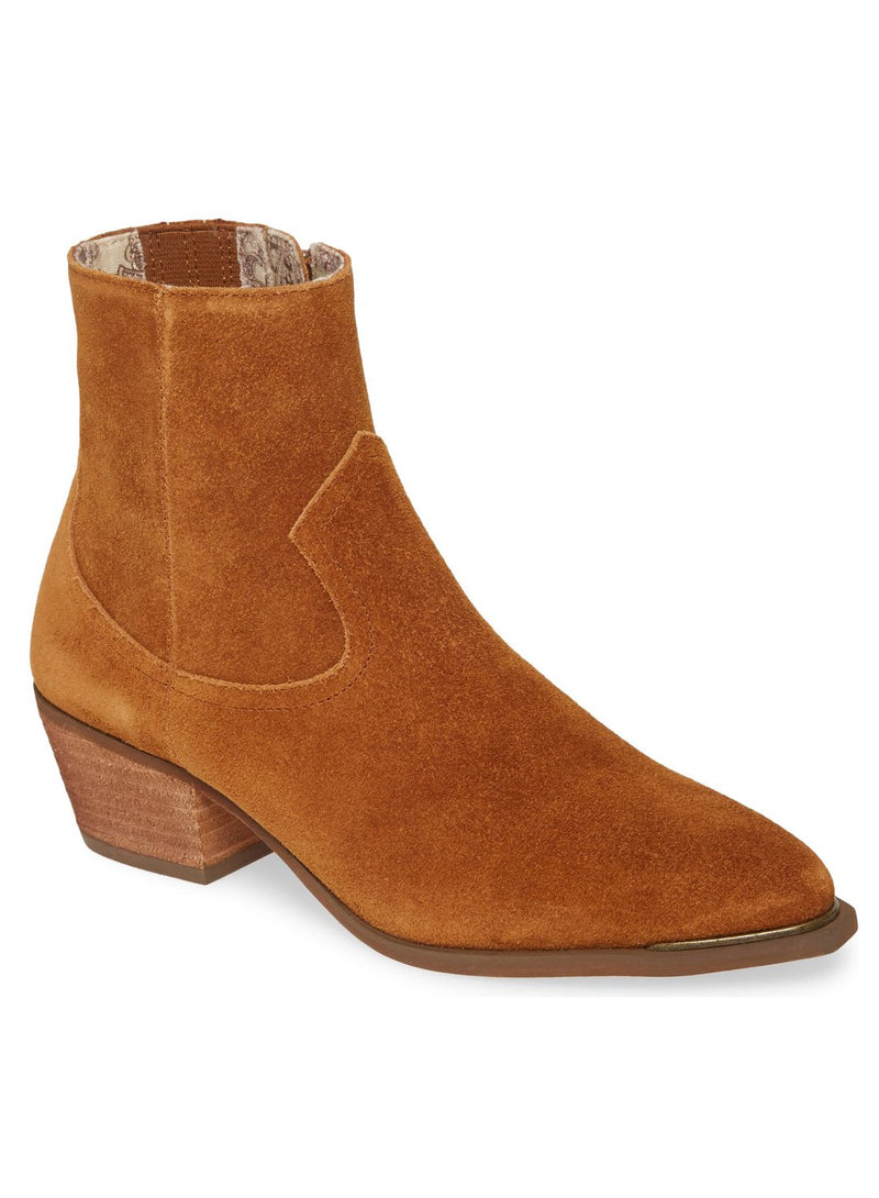 Creed Rust Suede Booties