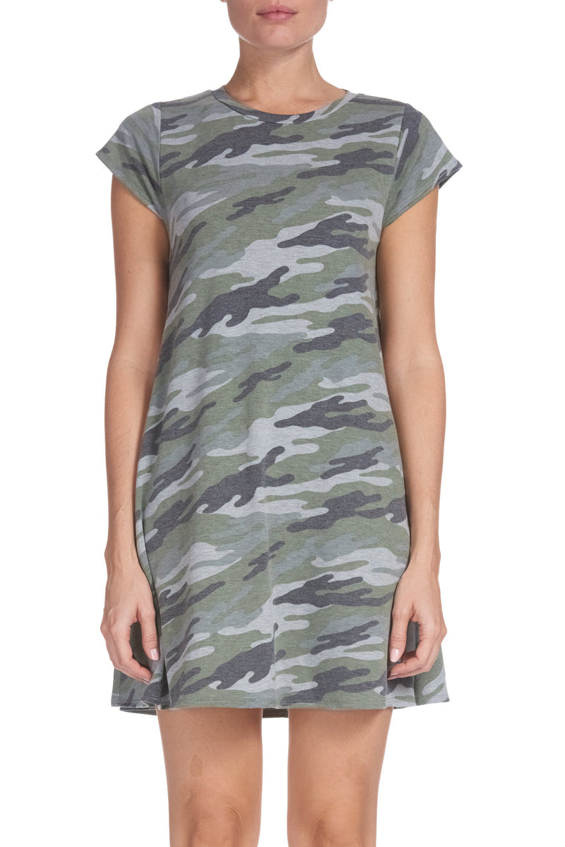 Green/Grey Camo Dress
