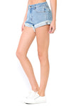 High Waisted Cuff Shorts