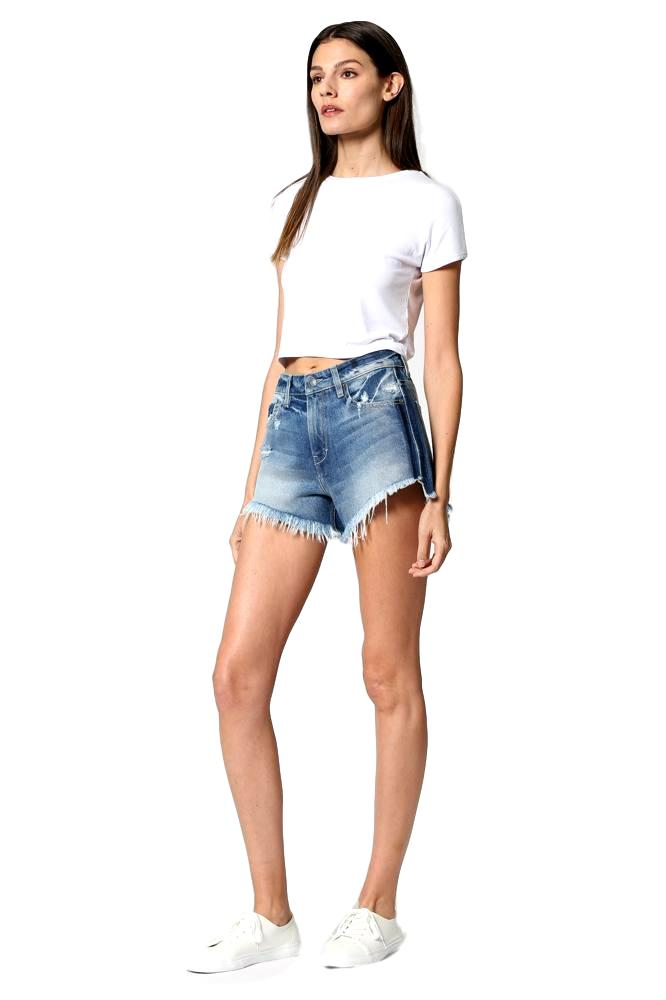 Side Stripe Mom Shorts