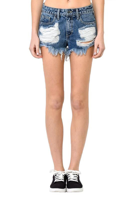 Destroyed High Waisted Shorts