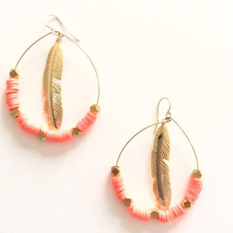 Feathered Hoops