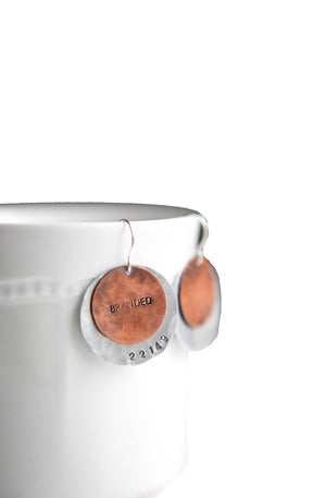 Branded Disc Earrings