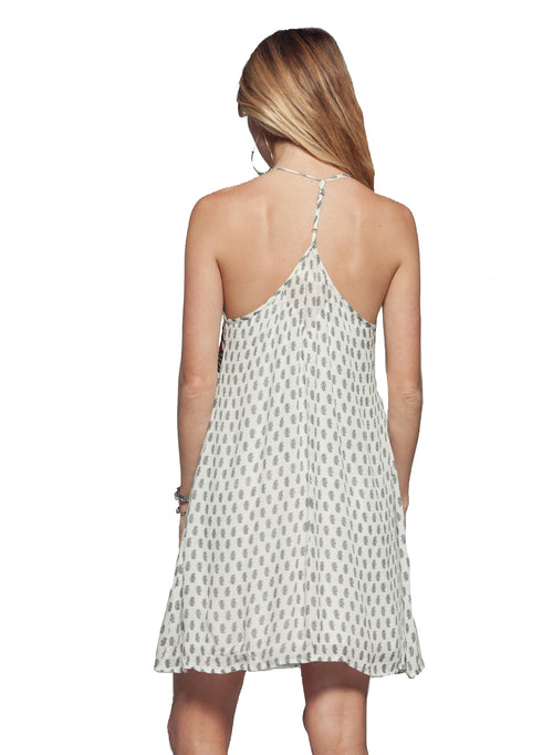 Embellished T-Back Dress