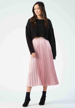Korbel Pleated Maxi Skirt