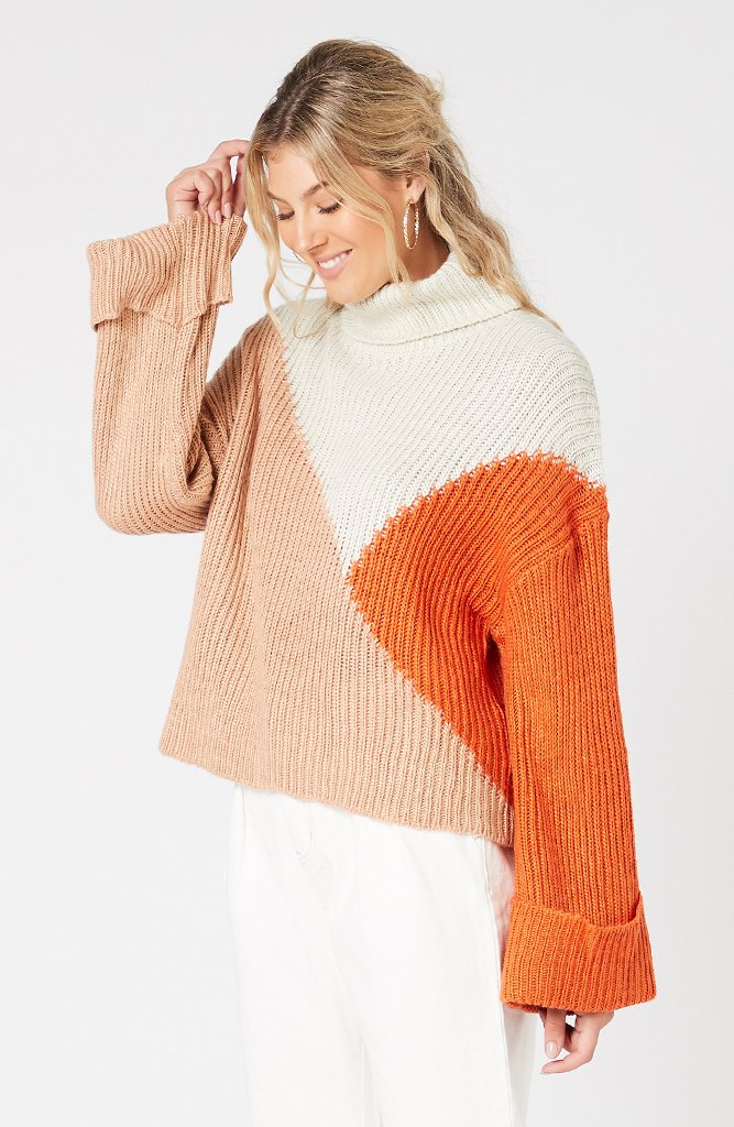 Colour Block Jumper Sweater