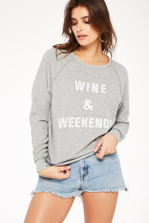 Neon Coffee/Wine Reversible Crew Neck Sweatshirt