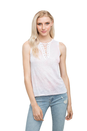 Leah Lace Up Top
