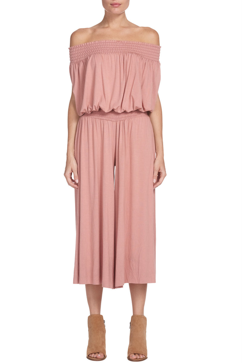 Feeling Rose' strapless jumpsuit
