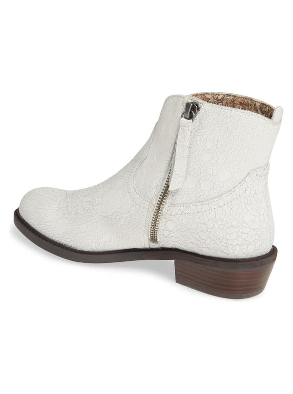 Montrose White Crackle Leather Boot