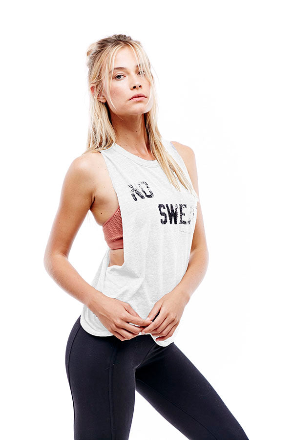 No Sweat Tank White