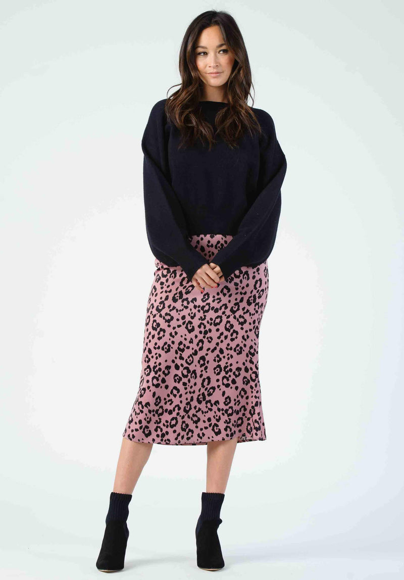 Bias Cut Midi Jaguar Skirt