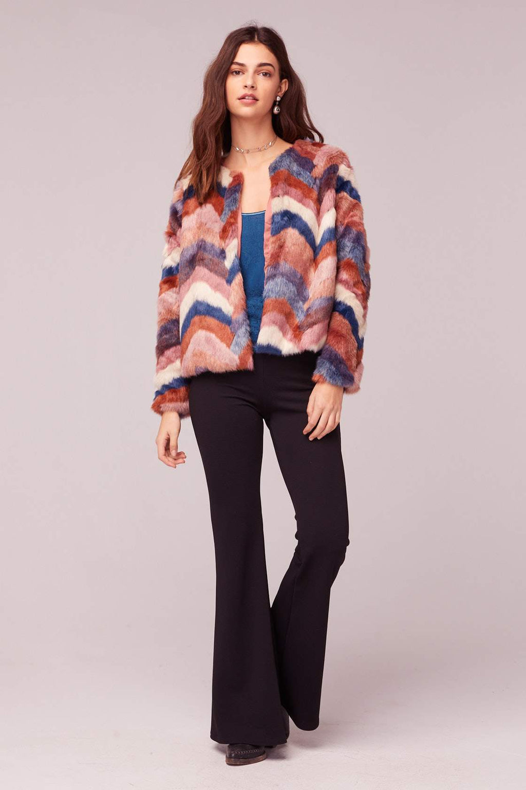 Purple Haze Faux Fur Jacket