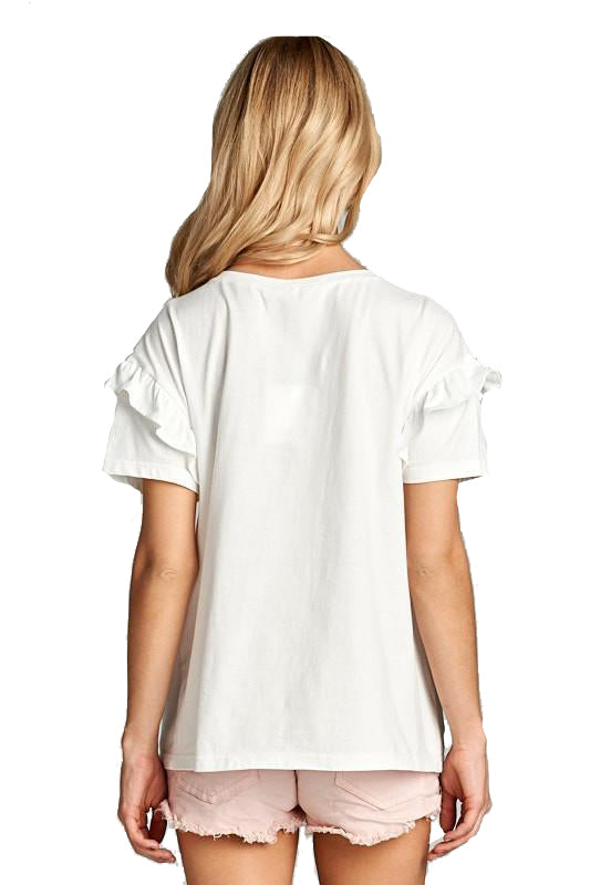 English Gardens Ruffle Tee